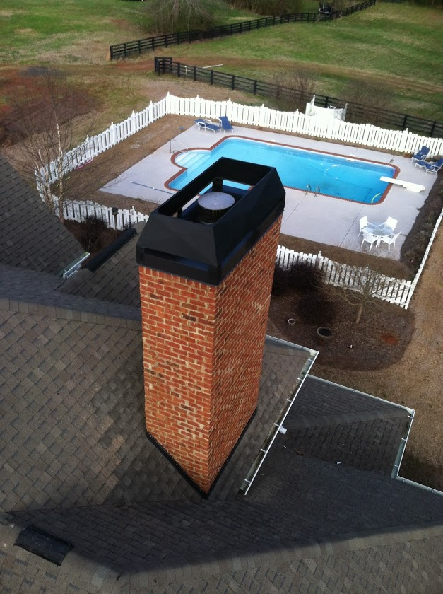 Custom Fabricated Chimney Shrouds And Cap Installed 478
